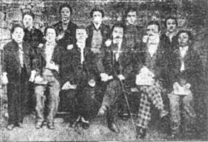 Певческият хор през 1874 г. начело с диригента Янко Мустаков13